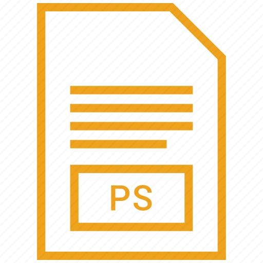 document, file, filetype, ps icon
