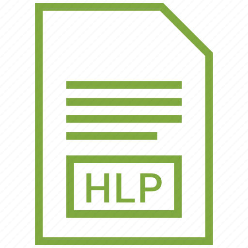document, file, filetype, hlp icon