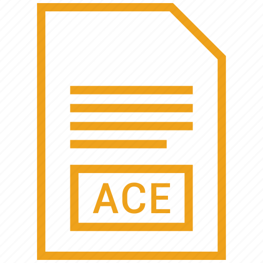 ace, file, vector format icon