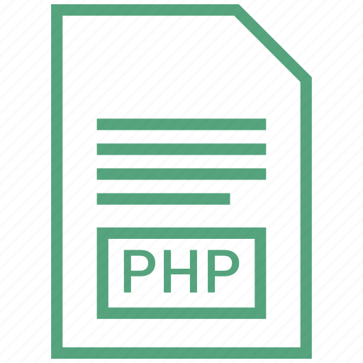 file, php, vector format icon