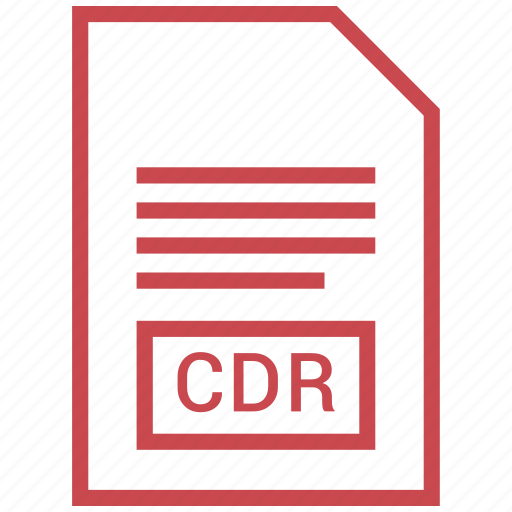 cdr, file, vector format icon