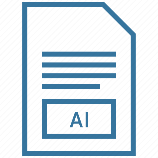 ai, file, vector format icon