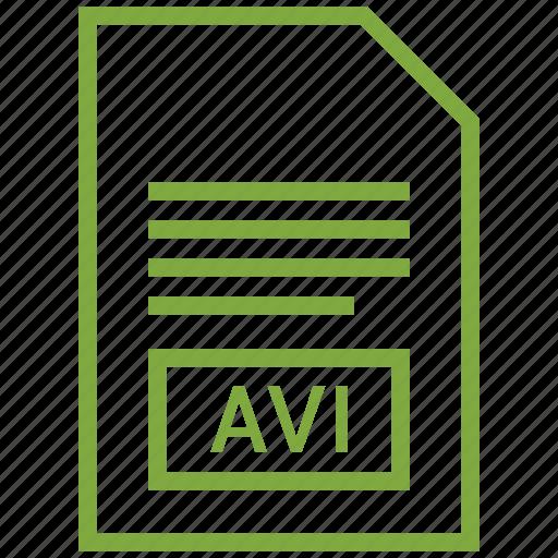 avi, file format, video icon