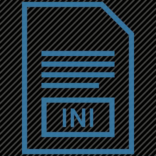 ini, windows initialization file icon