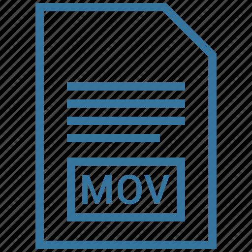 file format, mov, video icon