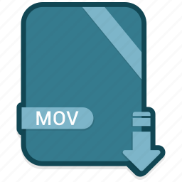 document, extension, file, folder, format, mov, paper icon