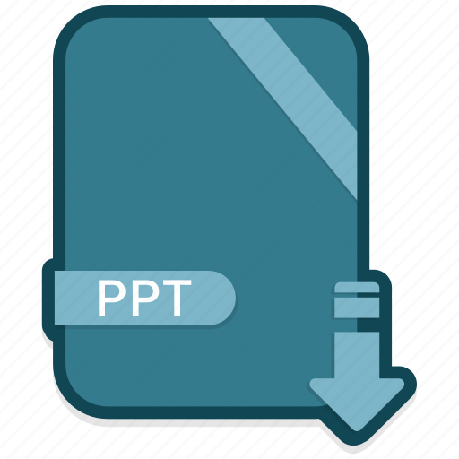 document, extension, file, folder, format, paper, ppt icon