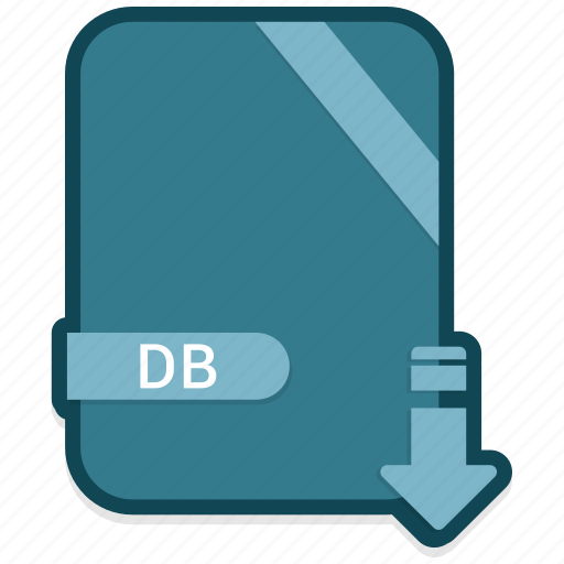 db, document, extension, file, folder, format, paper icon