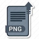 document, file, format, png, type icon
