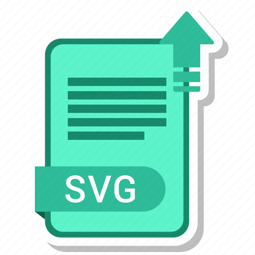 document, file, format, svg, type icon