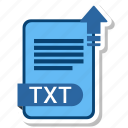 document, file, format, txt icon