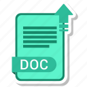 doc, document, file, format icon
