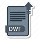 document, dwf, file, format icon