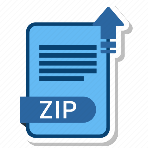 document, file, format, type, zip icon