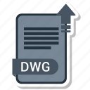 document, dwg, file, format icon