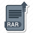document, file, format, rar icon