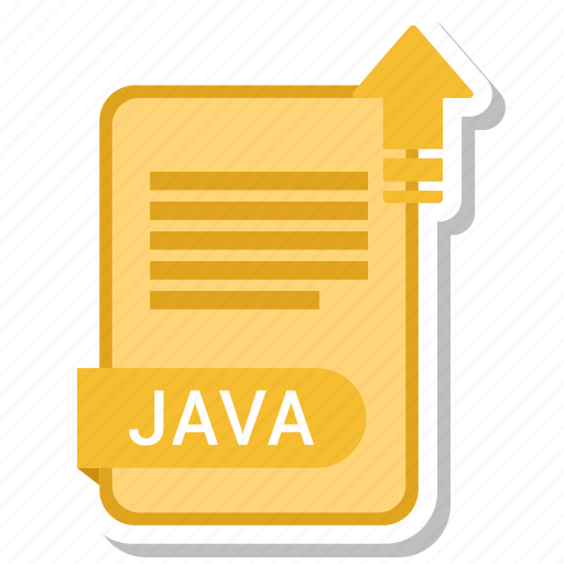 document, file, format, java, type icon