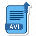 avi, document, extension, folder, paper icon