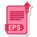 document, eps, extension, folder, paper icon