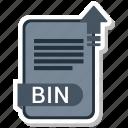 bin, document, extension, folder, paper icon