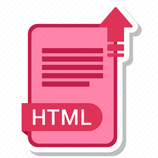 document, extension, folder, html, paper icon
