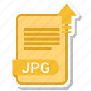 document, file, format, jpg, type icon