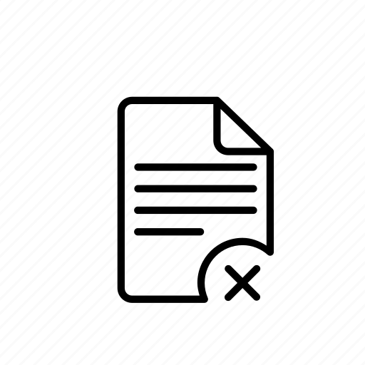 delete1, document, file, files, sheet icon