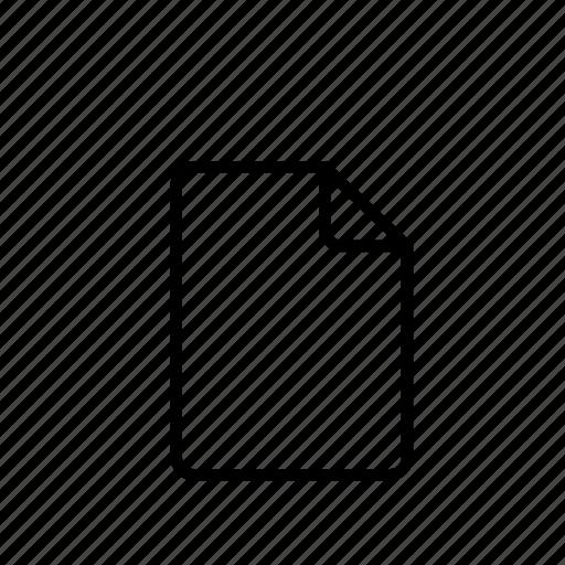 close, empty, extension, file, remove, sheet icon