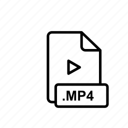 mp4, mpeg, multimedia, volume, youtube icon