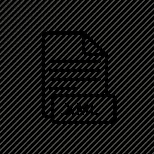 extension, file, xml, xml code file icon