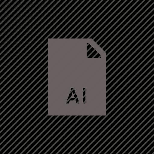 adobe, ai, file, illustrator icon