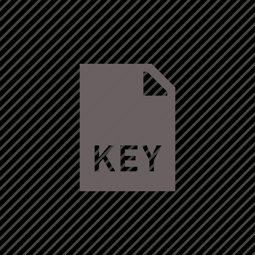 file, key icon