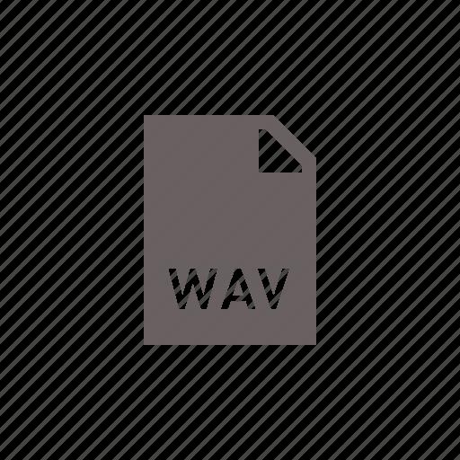audio, file, music, wav icon