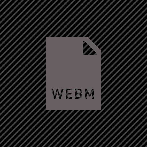 file, media, video, webm icon