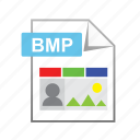 bitmap, bmp, document, extension, type icon