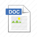data, doc, documents, file, format, page icon