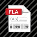 adobe, developer, fla, page, web icon