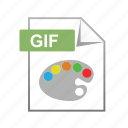 animation, files, format, gif, type icon