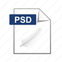 adobe, extension, format, psd, types icon