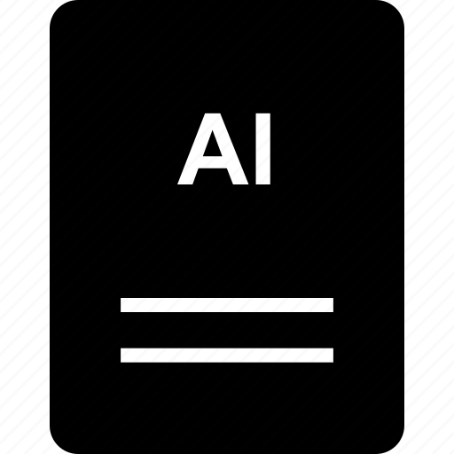 ai extension, extension, file, name icon