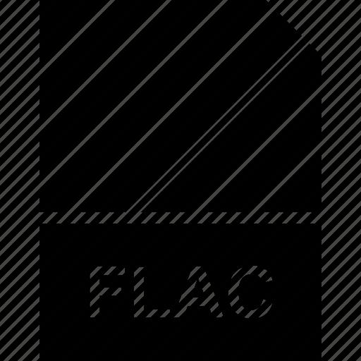extension, file, flac, name icon