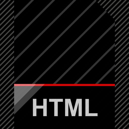 file, html, name icon