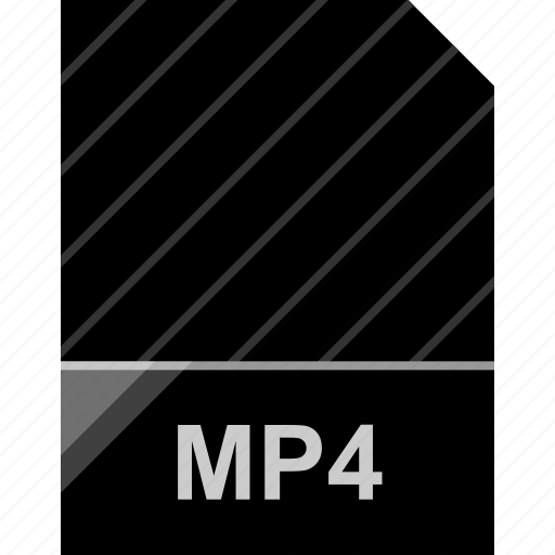 extension, file, mp4, page icon