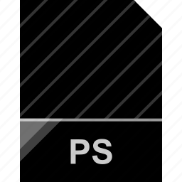 extension, file, page, ps icon