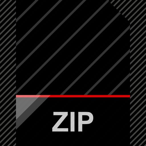 file, name, zip icon