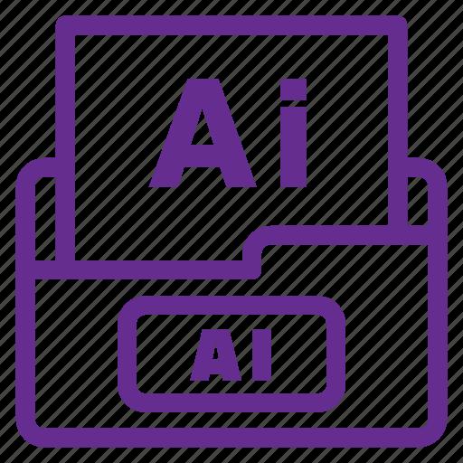 ai file, extension, file type, filetype, format, illustrator file, vector file icon