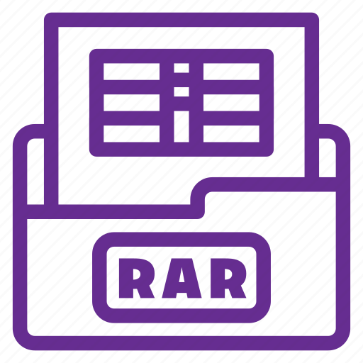 archive file, document, extension, file type, format, rar, rar file icon