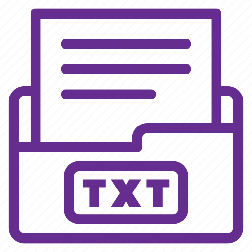 extension, file type, filetype, format, text file, txt, txt file icon