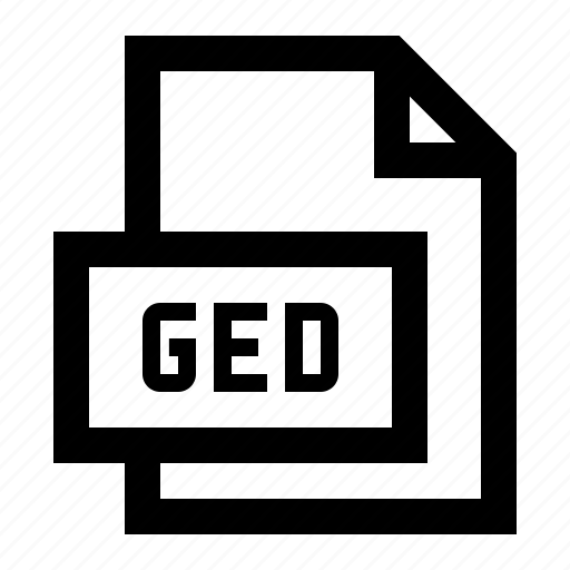 data, file, format, ged icon
