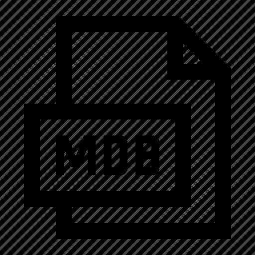 Database, file, format, mdb icon - Download on Iconfinder